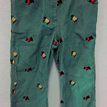 Lilly Pulitzer Scottie Terrier Dog Printed Embroidered Fine Corduroy Pants  Sz6 Photo