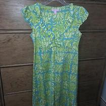 Lilly Pulitzer Silk Blend Dress Green and Blue Womens Size Xs Photo