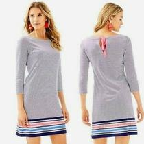 Lilly Pulitzer Size L Noelle Striped T-Shirt Dress  98.00 Photo