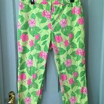 Lilly Pulitzer Size Mm Green and Pink Floral  Pants Size Maternity Medium Photo