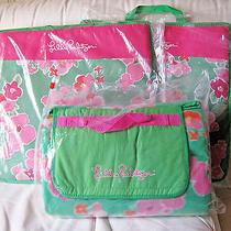 Lilly Pulitzer Stadium Beach Blanket & Seat Cushions Green Bean Sm. Garden Games Photo