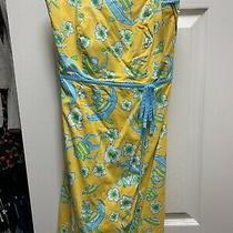 Lilly Pulitzer Strapless Yellow Dress Size 2 Photo