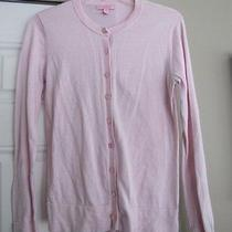 Lilly Pulitzer Sweater M Medium Cardigan Pink Signature Buttons Ladies B2 Photo