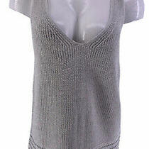 Lilly Pulitzer Sweater Vest Gray Metallic Large Photo
