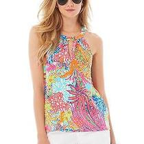 Lilly Pulitzer Tank Fishing for Compliments - Xxs Excellent Condition Photo