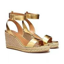 Lilly Pulitzer Target Women's Gold Wedge Espadrille Sandals - Size 9  Nwt Photo