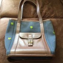 Lilly Pulitzer Tote Clover Brown Accents Photo