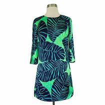 Lilly Pulitzer Under the Palms Carol Shift Mini 3/4 Sleeve Summer Dress Sz 00 Photo