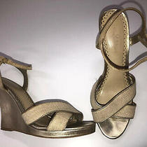 Lilly Pulitzer Wedge Sandals Shoes Womens Size 8.5 - Gold/sand - Free Shipping Photo