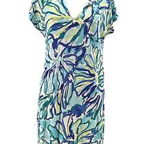 Lilly Pulitzer Women's Blue Linen Duval Cap Sleeved T-Shirt Dress Size Xs Photo