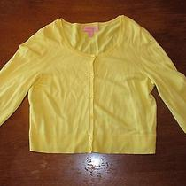 Lilly Pulitzer Women's Hillary Cardigan  Yellow  Medium  Free Shipping Photo