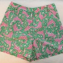 Lilly Pulitzer Women's Sz 8 Dolphin Mosaic Cotton Spandex Shorts Photo
