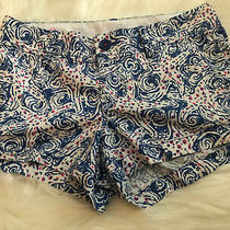 Lilly Pulitzer Womens the Walsh Shorts Sz 4 Blue White Pink Flowers 3 Inseam Photo