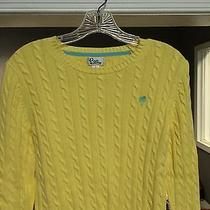 Lilly Pulitzer Women's Yellow Cable Crewneck Sweater Size Small  Photo
