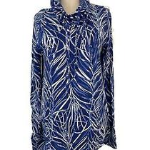 Lilly Pulitzer Womens 108 Top Sz L Fletcher Pullover Twilight Blue Early Riser  Photo