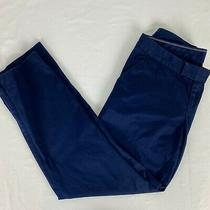 Lilly Pulitzer Womens 6 25246 Navy Satin Sheen Straight Dress Pants Photo