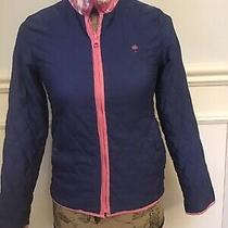 Lilly Pulitzer Womens Blue Pink Quilted Polyester Jacket Coat Size Xs Photo
