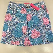 Lilly Pulitzer Womens Chipper Shorts Raising Shell Blue Haven/ Multi Size 8 Nwt Photo