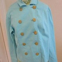 Lilly Pulitzer Womens  Double Breasted Collar Jacket  Blue Size L Photo