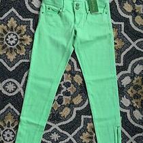 Lilly Pulitzer Womens Worth Skinny Mini Zip New Green Jeans Nwt 148 00 Photo