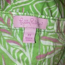 Lilly Pulitzer Xs v-Neck Beach Swimsuit Cover Up Floral  Lime Pink Yellow Green Photo