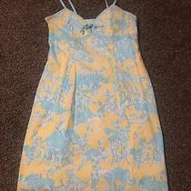 Lilly Pulitzer Yellow Jungle Themed Dress 4 Photo
