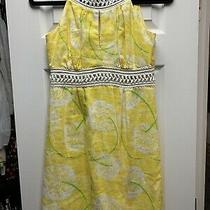 Lilly Pulitzer Yellow Linen Dress Size 2 Photo
