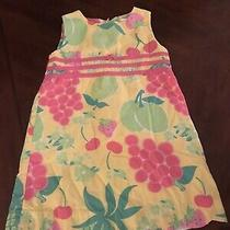 Lilly Pulitzer Yellow Pink & Green Fruit Dress Size 4t Photo