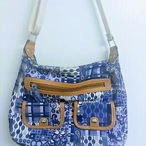 Lily Bloom Blue Floral Patchwork Purse Crossbody Bag Eco Friendly Satchel  Photo