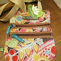 Lily Bloom Bright Colorful Floral Crossbody Shoulder Bag Purse Nwt Photo
