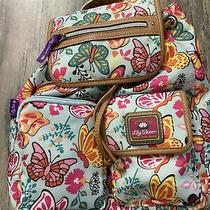 Lily Bloom Butterfly/floral Patterned Backpack Photo