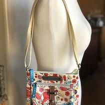 Lily Bloom Cream Multi Colored Floral Cat Crossbody Bag Purse Travel Girl Teen Photo