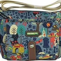 Lily Bloom Cristina Crossbody Who Let the Dogs Out Purse Shoulder Bag Nwt Photo