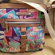 Lily Bloom Cross Body Purse Bag Adjustable Strap Pockets Flip Flops Summer  Photo
