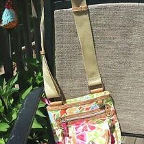 Lily Bloom Crossbody Purse Floral Pink Green Blue Orange White Multi Handbag Photo