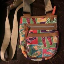 Lily Bloom Flip Flops Crossbody Adjustable Shoulder Bag Purse Great Fun  Photo
