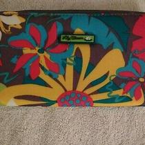 Lily Bloom Floral Zip Around Wallet Cell Phone Holder Credit Card Zip Pull Nwot  Photo