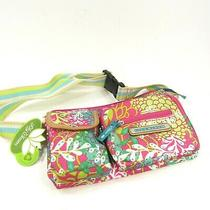 Lily Bloom Janet Belt Bag Floral Reef Pink Green Fanny Pouch Waist Belt New Photo