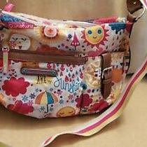 Lily Bloom Kathryn Spring Showers Sunshine Hobo Crossbody Eco-Friendly Purse Bag Photo
