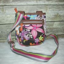 Lily Bloom Lb Multi Color Floral Print Purse Shoulder Crossbody Bag Photo