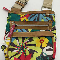 Lily Bloom Purse Polyester Multi-Color Floral Print Crossbody Bag Purse Photo