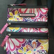 Lily Bloom Small Cross Body Bag Floral Mini Messenger Adjust Black Strap 7