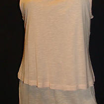 Lily Rose Peach/blush  Jewel Neck Tiered Tank Top Size Small Photo