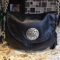 Limited Addition Brighton Purse Black Leather Shoulder Strap Like Brand New Photo