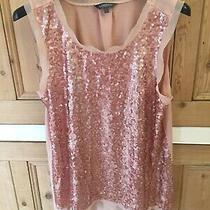 Limited Collection by m&s Rose Gold Sequin Vest Top Size 14 Photo
