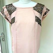 Limited Collection by m&s- Stunning Blush Pink & Bronze Top -  Size 14 Photo