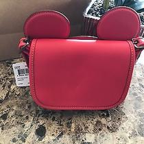 Limited Disney X Coach Mickey Mouse Ears Red Leather Patricia Bag Crossbody Nwt Photo