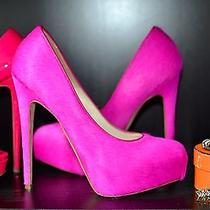 Limited Edition Authentic Brian Atwood Maniac 140mm Fuxia Calf Neon Pink Pumps Photo