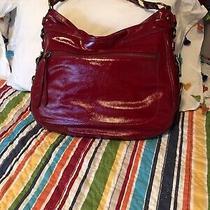 Limited Edition Coach Red (Garnet) Patent Editorial Zoe Bag Handbag Purse Photo