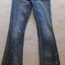 Limited Edition Express Paint Splattered Mia Boot Leg Jeans Photo
